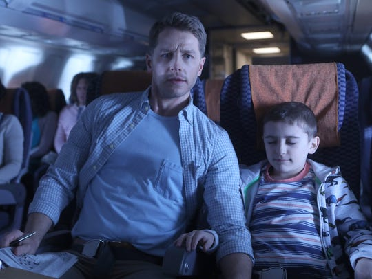 Josh Dallas as Ben Stone, Jack Messina as Cal Stone