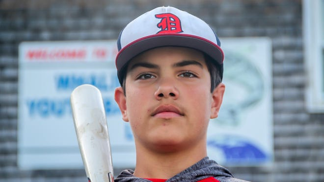 Drew Taylor set a Whaling City Youth Baseball League record by hitting .800 this summer. The 13-year-old eighth grader at Dartmouth Middle School hopes to play college baseball someday.