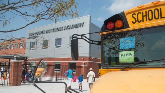 Exterior of the KIPP Cooper Norcross Academy in Camden.  09.01.15