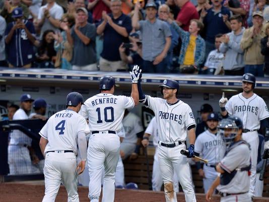 USP MLB: ATLANTA BRAVES AT SAN DIEGO PADRES S BBN SD ATL USA CA
