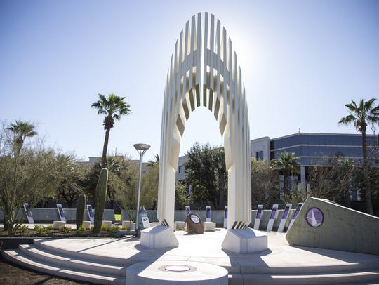 The Ernest W. McFarland Memorial was dedicated Saturday,