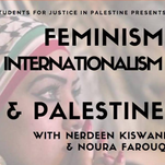 A night of feminism, internationalism and Palestine