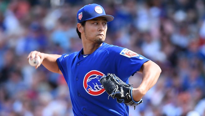 Yu Darvish struck out four batters over two innings in his spring debut.