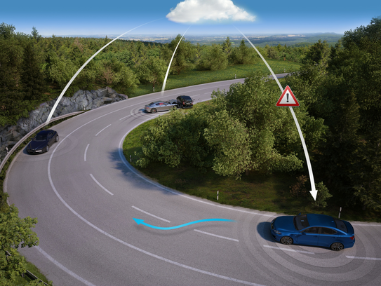 Using HERE's mapping technology, cars can be alerted