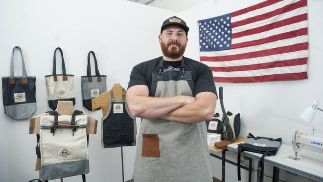 Factory owner Tom Marchetty created The Factory Workers line of clothing and accessories that are produced entirely in the USA. Marchetty owns The Factory coworking spaces in Collingswood and Cherry Hill.