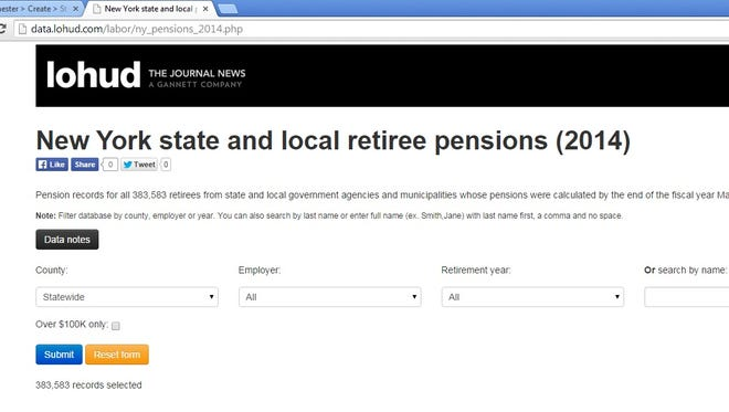 Pension data