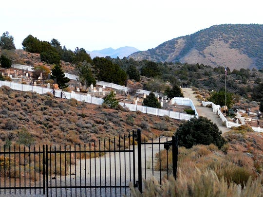 A look at the Silver Terrace Cemetary taken on Oct. 21 in Virginia City.