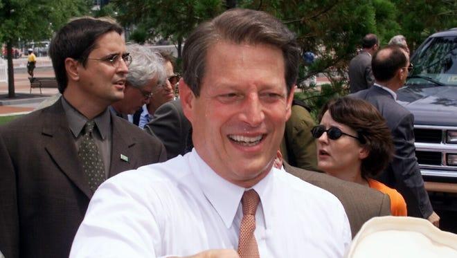 Al Gore campaigns in Atlanta during the 2000 presidential campaign.