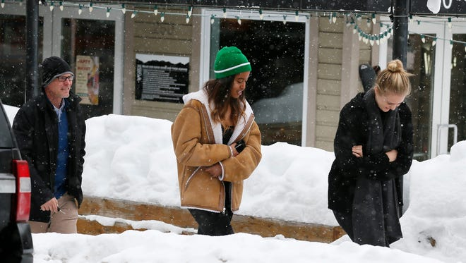 Four days after her father left office, Malia Obama was seen on the main drag in Park City,  Utah, Monday during the Sundance Film Festival.