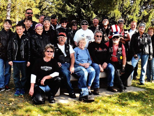 """The Hahn family hosts an annual """"Strawberry"""" Grandparents Day motorcycle ride in honor of all grandparents."""