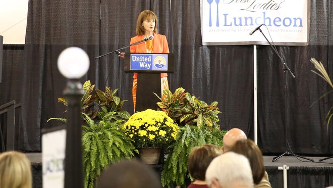 Speaker of the House Beth Harwell gave the keynote address for the third annual First Ladies Luncheon on Thursday. The luncheon was sponsored by the Women's Leadership Council of the United Way of West Tennessee to celebrate the leadership of women in Tennessee.