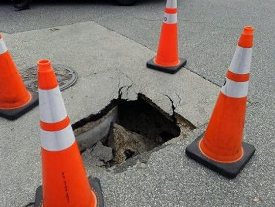 Police initially said a sinkhole had possibly opened