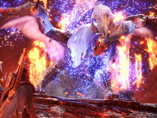 """The """"Empress of Flame,"""" Lunastra, enters the fray in Monster Hunter World as part of the game's third major update."""