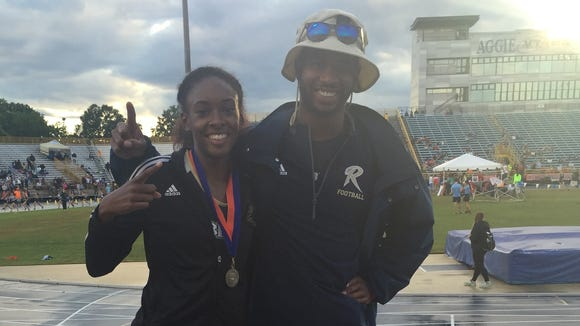 Roberson rising senior Michelle Cobb recently won a USA Track & Field state championship for the Asheville Lightning.