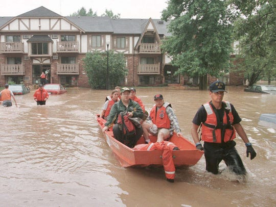 Coast Guard personal rescue Foxcroft residents, Thursday,