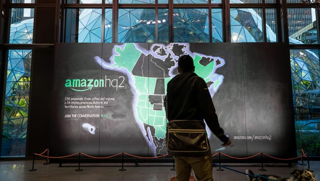 Amazon HQ2 proposal map