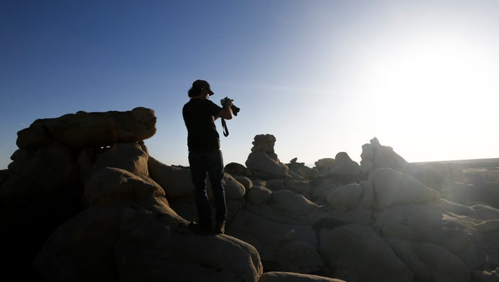 'Cosmos' producers shoot footage near Bisti/De-Na-Zin Wilderness Area