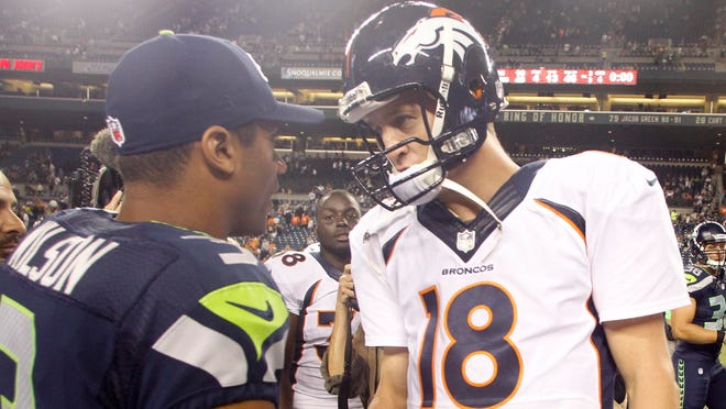 QBs Russell Wilson and Peyton Manning have hardware on the line Sunday.