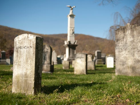 New York's West Point Cemetery is set in an idyllic spot overlooking the Hudson River. It has graves of military cadets, faculty and graduates of the U.S. Military Academy.