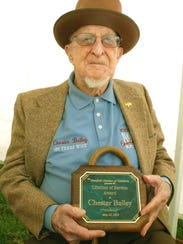 Chester P. Bailey of Mansfield received the Lifetime