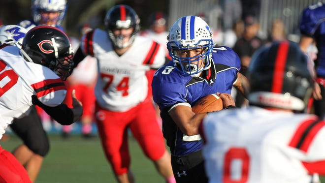 """Tyron """"T.J."""" Francis rushed for more than 1,300 yards during his senior year with the Middletown football team."""