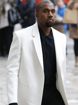 Kanye West arrives at St Paul's Cathedral in London in February 2015.