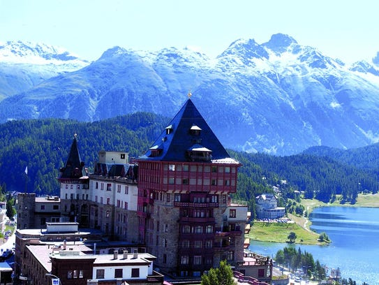 A postcard of San Moritz, Switzerland, in the Billy