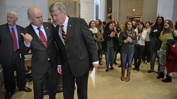 Sen. Randy McNally, right, has been nominated to become the next lieutenant governor of Tennessee.