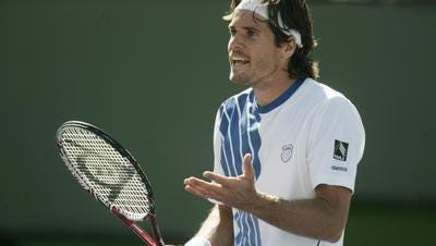 German Tommy Haas at the BNP Paribas Open in 2014. Hass has been a big supporter of the expansion at the Indian Wells Tennis Garden.