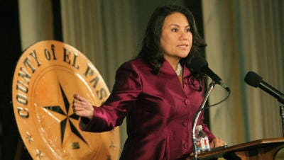 County Judge Veronica Escobar will speak Wednesday at the Greater El Paso Chamber of Commerce luncheon.