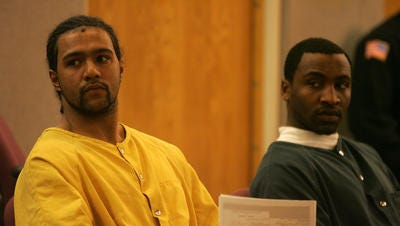 Kalil Griffin, right, appears in Superior Court in Monmouth County in 2011 with Joshua Simmons.