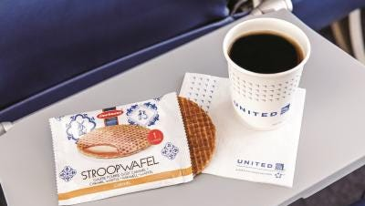 Beginning in February 2016, United Economy customers will receive complimentary stroopwafel breakfast snacks on flights within North America and on service to and from Central America and between Honolulu and Guam.