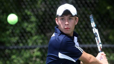 Pingry's Jeffrey Zucker won his third-straight title at first singles at the Somerset County Tournament on Sunday.