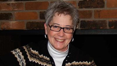 Cathy Fitzpatrick, president of the BaseLine Folk Society, is the host of Saturday's show at the Plymouth Community Arts Council.