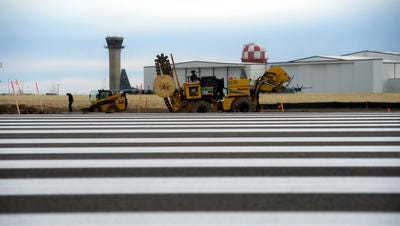 The $10 million project to resurface an alternative runway at Great Falls International Airport and construct a new taxiway is nearing a mid-January completion date.