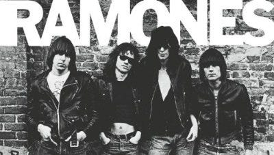 The original lineup of the Ramones is seen on the cover of the band's 1976 debut album. Their 1989 Christmas song is today's holiday selection.
