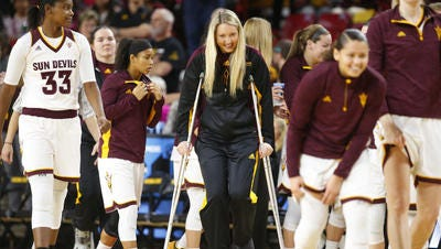 ASU senior forward Kelsey Moos remains out for an indefinite time with a left foot injury.