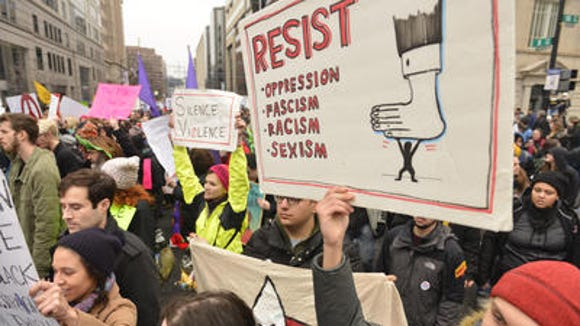 Protests following Donald Trump's inauguration.