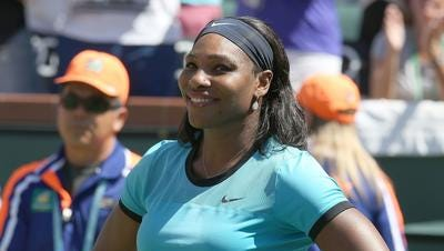 This 2016 Desert Sun file photo shows Serena Williams during the BNP Paribas Open in Indian Wells. She missed the 2017 tournament because she was pregnant but is expected to play in March 2018.