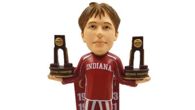 The National Bobblehead Hall of Fame and Museum released an Indiana basketball bobblehead Friday, July 21, 2017