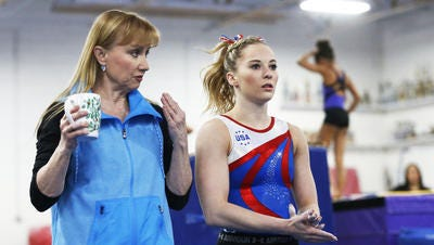 Desert Lights gymnastics coach Lisa Spini, left, said she always was with MyKayla Skinner when Skinner was being treated by former USA Gymnastics doctor Larry Nassar.