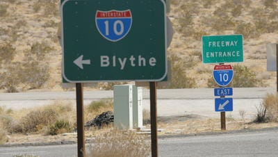A Thousand Palms man died in a crash on Interstate 10 Monday night in Desert Center.
