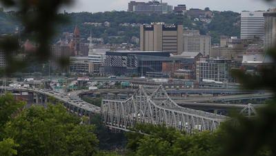 A view of the Brent Spence Bridge, taken from Devou Park in Covington.