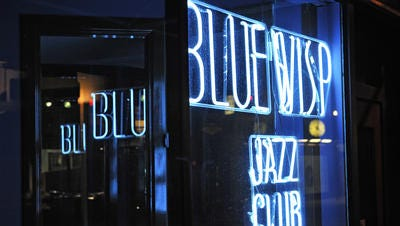 The Blue Wisp at the corner of 7th and Race streets.