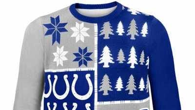 Nope. You won't win any ugly sweater contests with this. It's too cool to be ugly.