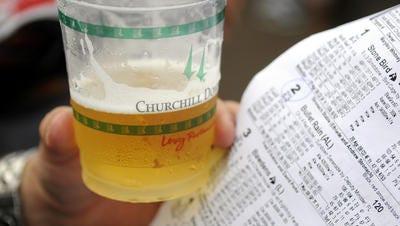 Beer at Churchill Downs.