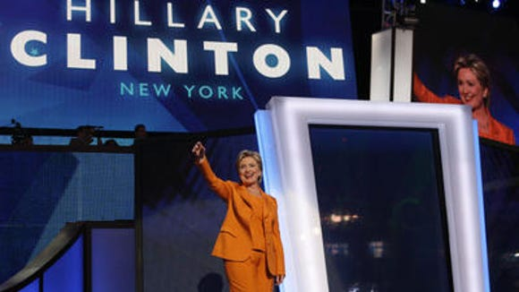 Hillary Clinton at the 2008 Democratic National Convention in Denver.