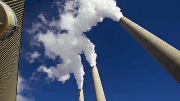 Smokestacks at Navajo Generating Station