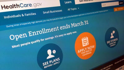 This file photo shows part of the website for HealthCare.gov, the website that is delivering Obamacare. The federal government sent letters this week to 6,600 Arizona residents who must clear up questions about their citizenship or immigration status or they could lose their Affordable Care Act health insurance next month.