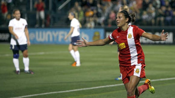 United States national team star midfielder Carli Lloyd, along with Abby Wambach and several other starters, will be back with the Flash for the 2014 NWSL season, which starts April 12.